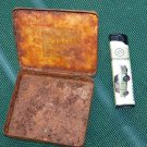 ANTIQUE RARE WWII GERMANY GOLD SABA CIGARETTES RUSTED TIN BOX