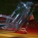 ARMENIAN  HAND BLOWN FIGURAL GLASS BOTTLE HIGH HEEL SHOE TOP SHOT 350 ML EMPTY