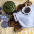 VINTAGE Russian USSR 80's military gas mask and carry bag case NOS Size 1 Small