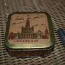 RARE ANTIQUE RUSSIAN SOVIET USSR TOOTH POWDER TIN BOX VSKhV EXCIBITION 1959