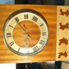 VINTAGE RARE RUSSIAN USSR SOVIET WOODEN QUARTZ WALL CLOCK ANTARES 1975