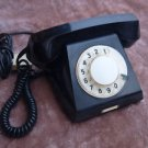 VINTAGE  USSR SOVIET RUSSIAN ROTARY DIAL PHONE BLACK COLOR TA 68