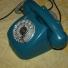 ANTIQUE RARE SOVIET CZECHOSLOVAKIA ROTARY DIAL PHONE GREEN COLOR ABOUT 1968
