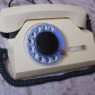 ANTIQUE USSR SOVIET ROTARY DIAL PHONE IVORY COLOR TA 72