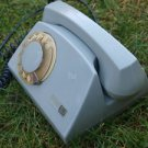 VINTAGE RARE POLANT ROTARY DIAL PHONE RWT ELECTRIM GREY COLOR