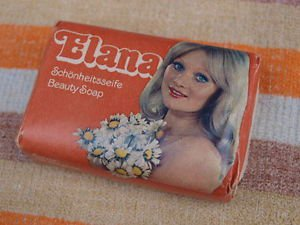 VINTAGE SOAP ELANA MADE IN DDR ABOUT 1980 NOS