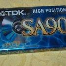 Vintage TDK  SA 90 High Bias Audio Cassette Tape NOS