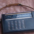 VINTAGE USSR SOVIET RUSSIAN  AM LW PORTABLE RADIO SOKOL 403 IN LEATHER CASE