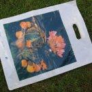 VINTAGE SOVIET USSR POLYETHYLENE PLASTIC BAG NOS FLOWERS DECOR