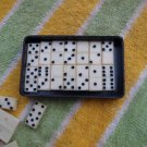 ANTIQUE SOVIET USSR RUSSIAN MINI TRAVEL DOMINO GAME BAKELITE SET ABOUT 1960
