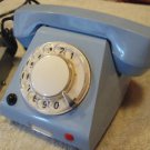 VINTAGE SOVIET RUSSIAN MADE IN USSR ROTARY DIAL PHONE TA-68  LIGHT BLUE COLOR