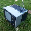 VINTAGE SOVIET USSR  PORTABLE BLACK & WHITE TV SILELIS 405D-1 WORKING