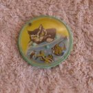 Vintage Russian Soviet USSR Pocket Cat Fishing Tir Puzzle 3 Balls Game