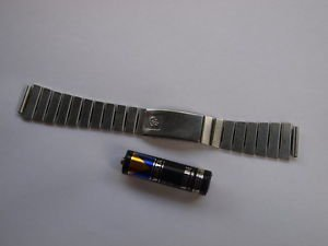 VINTAGE  SOVIET RUSSIAN USSR STAINLESS  WRISTWATCH BAND ELEKTRONIKA 18 MM