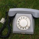 VINTAGE SOVIET USSR RUSSIAN TA-68 ROTARY DIAL PHONE GREY ABOUT 1970