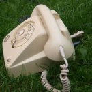 VINTAGE SOVIET USSR ROTARY DIAL PHONE VEF TA-611A IVORY COLOR