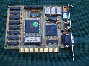 Vintage ISA Paradise EGA Video Card E-2A64-B02 Dip Switch