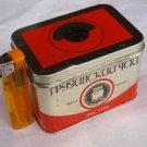 ANTIQUE USSR SOVIET GEORGEAN BLACK TEA EKSTRA TIN BOX  ABOUT 1973