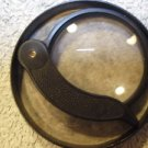 VINTAGE SOVIET USSR RUSSIAN BIG MAGNIFYING 2X GLASS LOUPE IN CASE BAKELITE