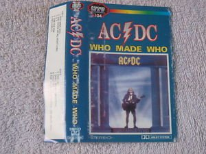 AC/DC Who Made You Music Cassette Made In Poland