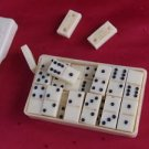Antique Soviet Georgian USSR POCKET Game DOMINOES in  Box Tbilisi BAKELITE