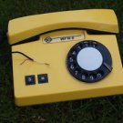 RARE VINTAGE SOVIET USSR ROTARY DIAL PHONE VEF TA-D PASTEL YELLOW COLOR