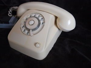 VINTAGE  RARE LATVIAN  ROTARY DIAL PHONE VEF TA 611A