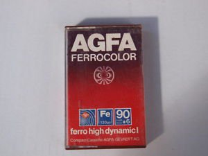 VINTAGE RARE AGFA Ferrocolor 90+6 High Dynamic I Red Color Made In Germany