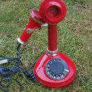VINTAGE RARE SOVIET RUSSIAN USSR ROTARY DIAL STYLISH PHONE SOUVENIR RED COLOR