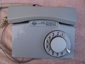 VINTAGE LATVIAN ROTARY DIAL PHONE VEF TA-611D GREY COLOR
