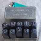 Vintage USSR Soviet Punch Stamp Numbers 10 Pc 10mm Metal Marking Ingot Puncher