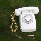 ANTIQUE RARE SOVIET USSR ROTARY DIAL PHONE VEF TA-60 FROM 1965 WHITE