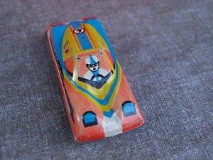 Antique Rare Soviet Russian USSR Primitive Tin Toy Racing Car #4