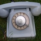 Antique Rare Soviet Russian USSR Rotary Dial Phone VEF Light Gray Color 1968