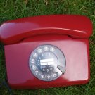 Vintage Germany Post Fe TAp 791 - 1 Rotary Dial Phone Red Color Tested