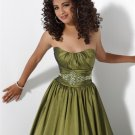 A-line Strapless Evening Dresses Prom Formal Gowns MS080