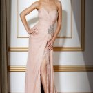 Sheath Sweetheart Chiffon Lace Long Pink Evening Prom Dresses Party Formal Bridal Gowns 132-2