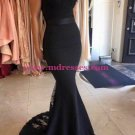 Mermaid Long Black Lace Evening Prom Dresses Party Formal Bridal Gowns 08