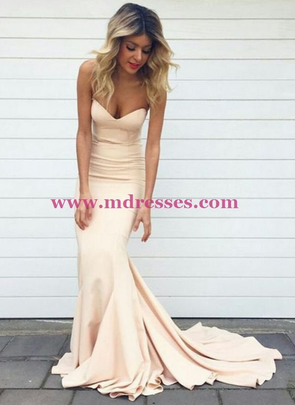 Mermaid Sweetheart Long Wedding Party Prom Evening Party Formal Dresses 26