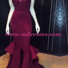 Mermaid Long Red Wedding Party Prom Evening Formal Dresses 39