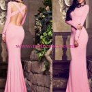 Mermaid Long Sleeve Pink Wedding Party Prom Evening Formal Dresses 42