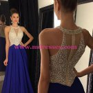 Beaded Long Red Chiffon Prom Evening Formal Dresses 78