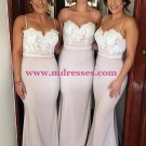 Trumpet/Mermaid Spaghetti Straps Lace Long Prom Evening Formal Bridesmaid Dresses 79