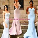 Trumpet/Mermaid Spaghetti Straps Long Prom Evening Formal Bridesmaid Dresses 82