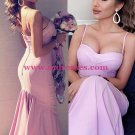 Trumpet/Mermaid Spaghetti Straps Long Prom Evening Formal Bridesmaid Dresses 83