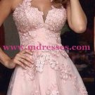A-Line Short Pink Lace Prom Evening Cocktail Homecoming Dresses 85