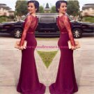 Trumpet/Mermaid Long Sleeves Red Lace Prom Evening Formal Dresses 104