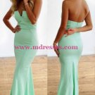 Trumpet/Mermaid Mint Green Long Prom Evening Formal Dresses 109