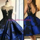 Short Royal Blue See Through Homecoming Prom Evening Formal Dresses 117