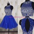 Beaded Sequins Short Royal Blue Prom Evening Homecoming Cocktail Dresses 118